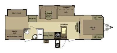 Open Range Mesa Ridge Mr325b Travel Trailer Floor Plans Open
