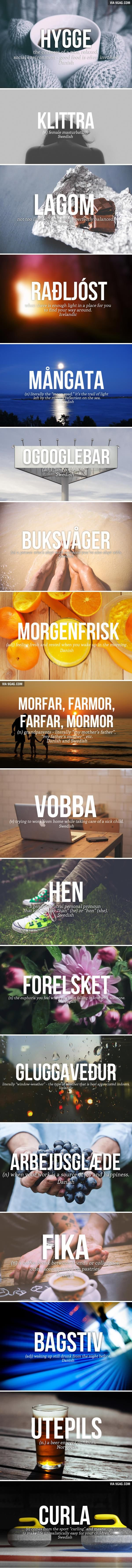 18 Brilliant Nordic Words We Desperately Need In English. Check out that cool T-Shirt here:  https://www.sunfrog.com/together-forever-Black-Guys.html?53507