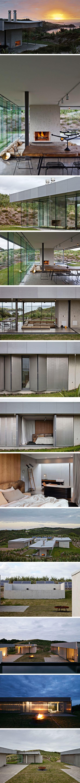Island Retrait par Fearon Hay Architects. Residence on Waiheke Island in New Zealand.
