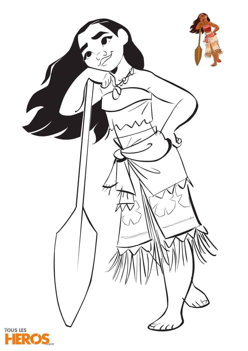 Imprimez gratuitement les coloriages Vaiana sur le blog de Tous