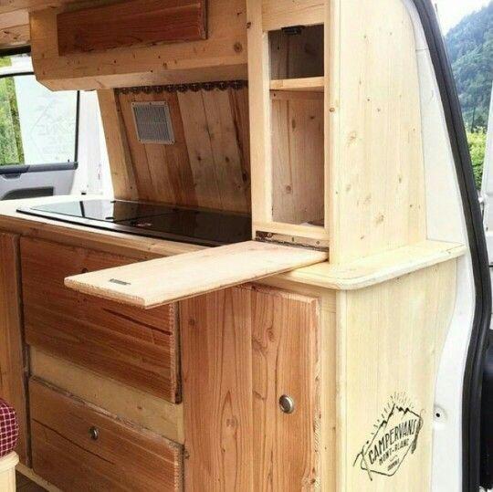 Photo of caravan storage ideas 712905816003557824 –  Unique drop down table idea in this …