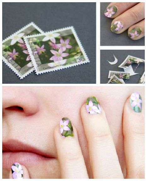 Postage stamp manicure? ReFab Diaries: Repurpose: Playful Postage ...