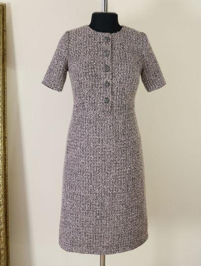 899adda21be твидовое платье