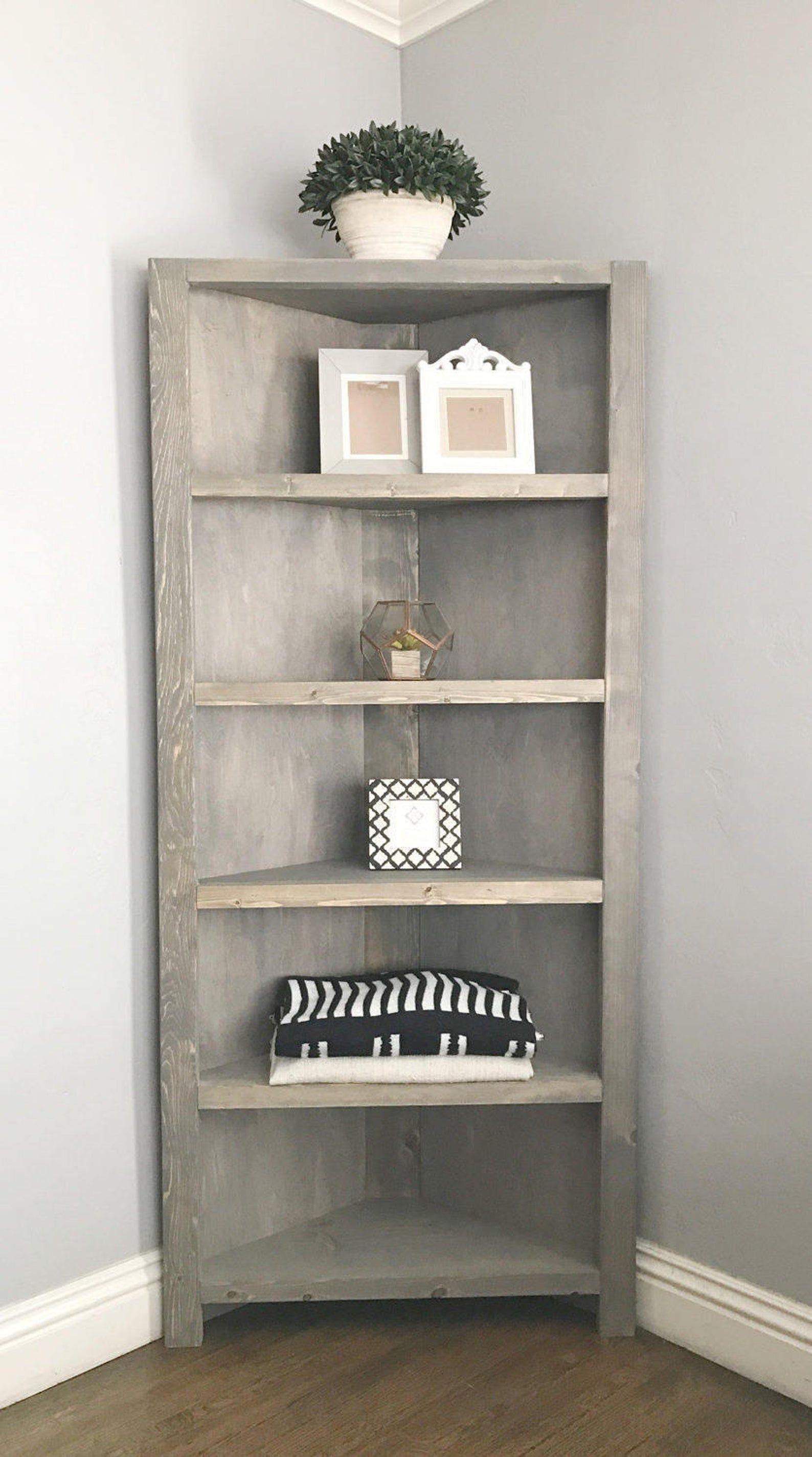 Corner shelves BookcaseCorner unit | Etsy (With images ...