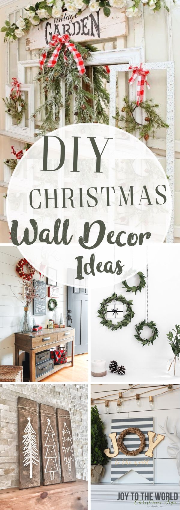 30 DIY Christmas Wall Decor Ideas Adding Holiday Cheers to Your ...