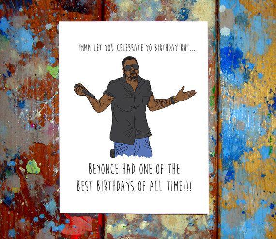 Kanye West Happy Birthday Card Taylor Swift Vma Mtv Christmas Cards Happy Birthday Cards Birthday Cards