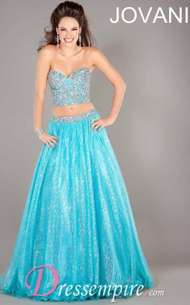 Jovani 5336 Dress | $640 | Crop top and skirt from Jovani for prom ...