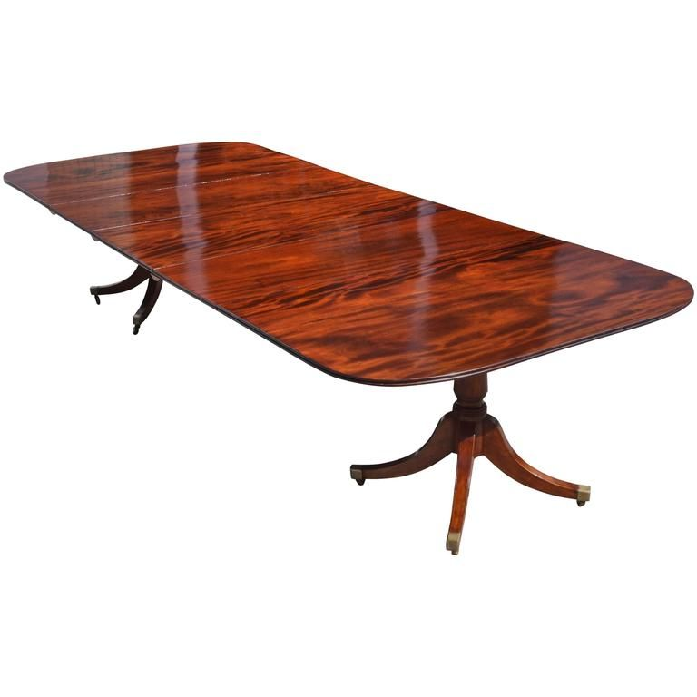 Good 19th Century Regency Mahogany Two Pedestal Dining Table From A Unique Collection Of Antique And Mod Dining Table Pedestal Dining Table Dining Room Table