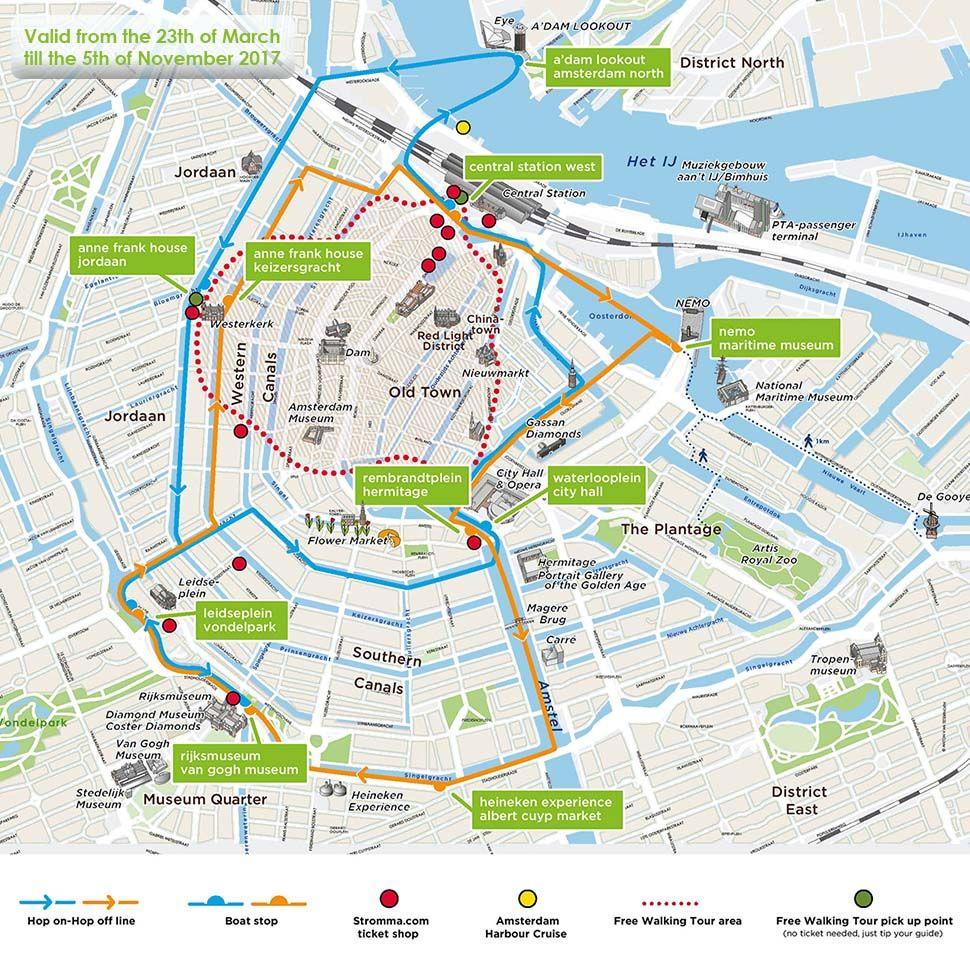 Hop On Hop Off Boat Amsterdam Sightseeing Stromma Nl Heineken Experience Sightseeing Amsterdam Tours
