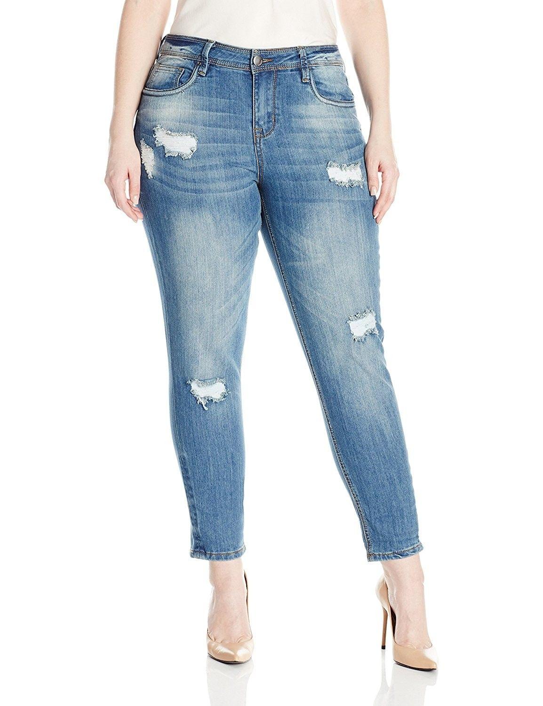b247525a190 Women s Plus Size Roll up Skinny Capri - Clooney - C412MCQW7OD in ...