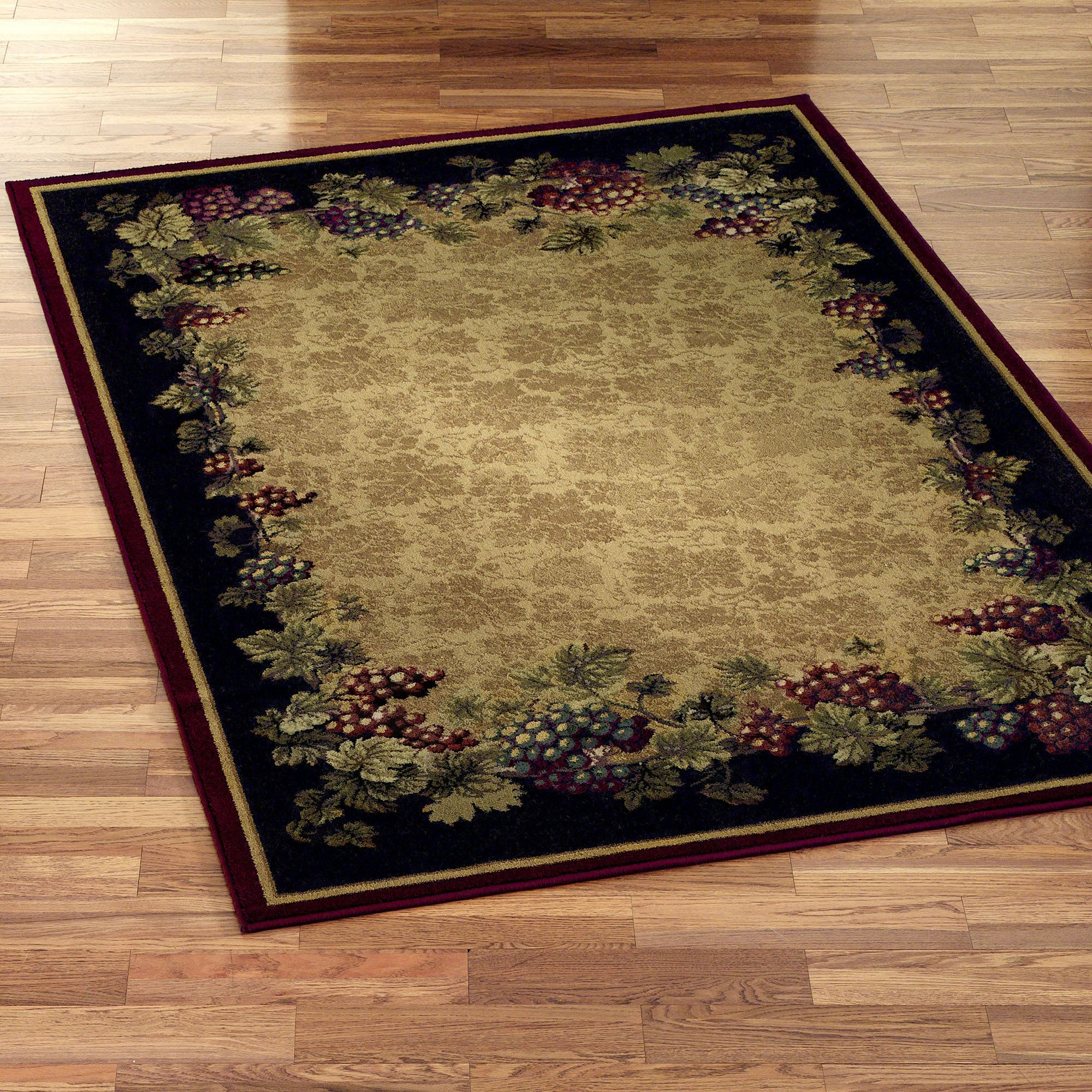 Tuscan Vineyard Area Rugs In 2019 Kitchen Rug Tuscan