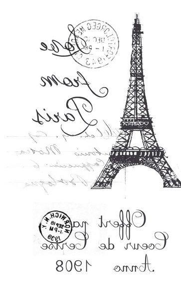 french / Paris / Eiffel tower transfer | scrapbookinh | Pinterest ...