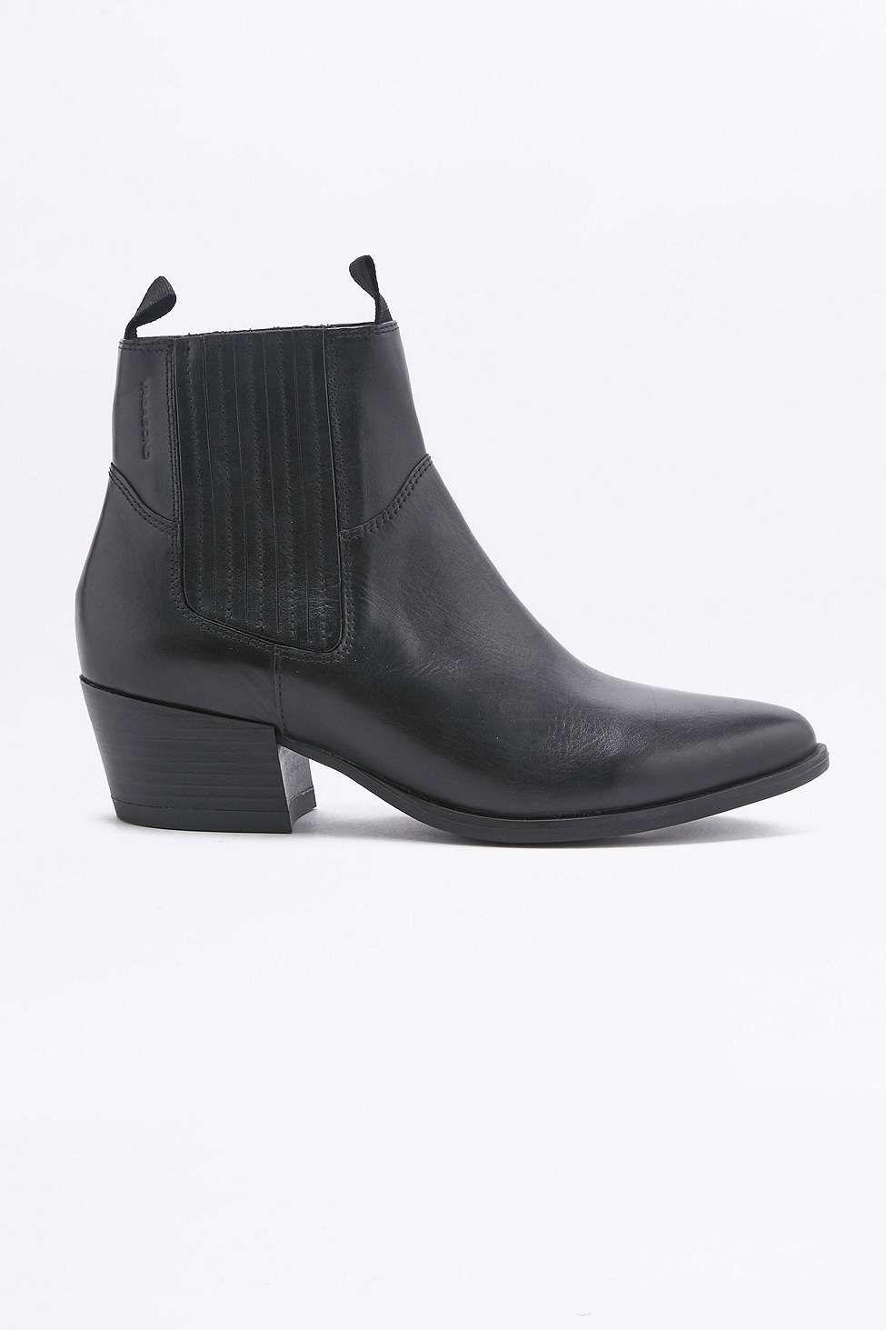 76abf319f3a Vagabond Mandy Western Black Chelsea Ankle Boots | Shoes | Black ...