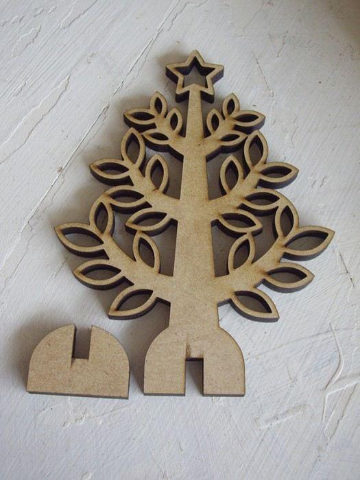 MDF Laser Cut Christmas Bauble Tree Decoration Angel Granda