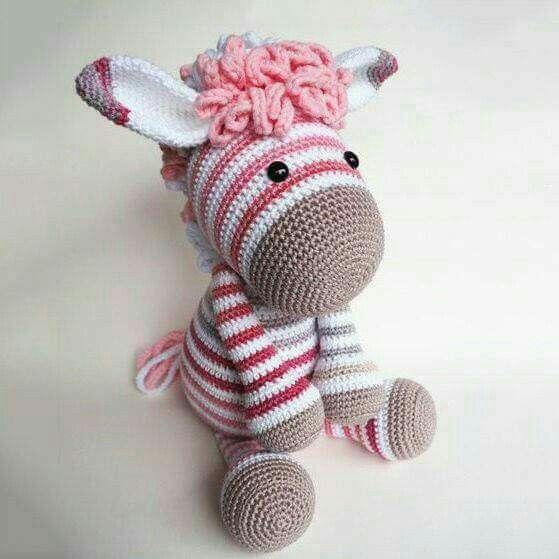 Crochet zebra | Crochet zebra, Crochet zebra pattern ...