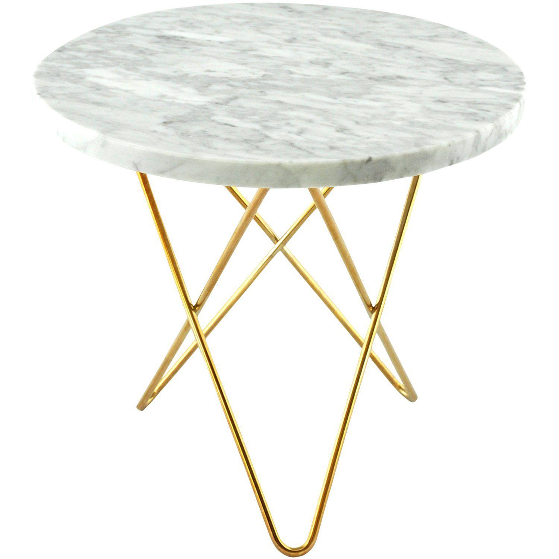 Mini O sofabord, hvit marmor/messing i gruppen Møbler / Bord / Sofabord hos ROOM21.no (128749)