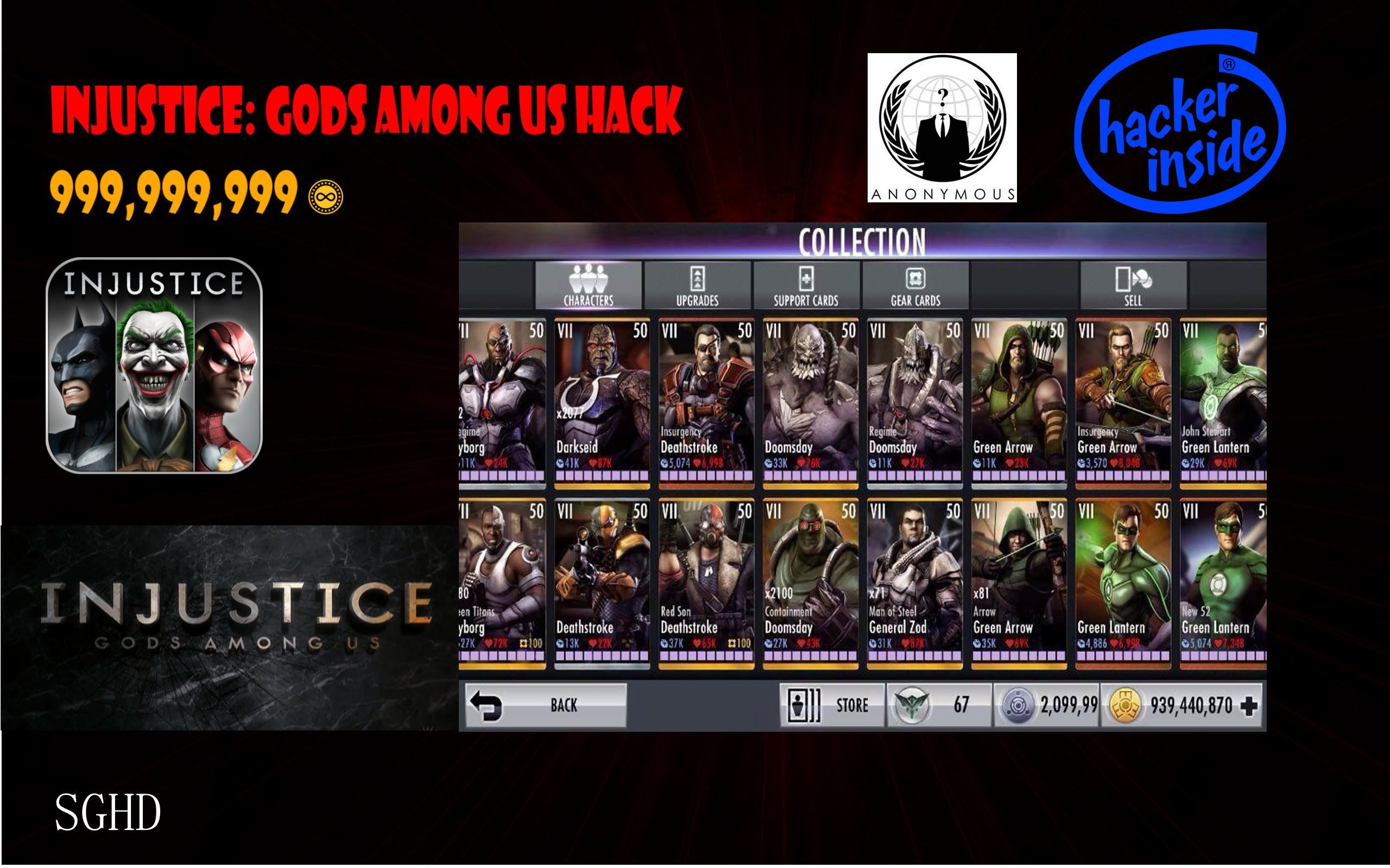 Injustice Gods Among Us Hack Apk Get 9999999 Power Energy Unlock All Characters And Unlock All Special Costumes No Survey Injustice Hack Free Money Hacks