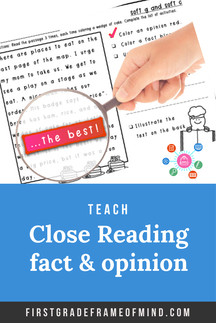 Close Reading Comprehension Fact Opinion And Ce Ge Dge In 2020 Close Reading Comprehension Reading Comprehension Soft G Words