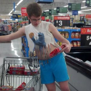 Walmart has the best customers I want one if those shirts.