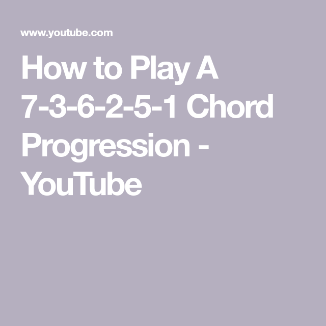 How To Play A 7 3 6 2 5 1 Chord Progression Youtube Jazz Piano