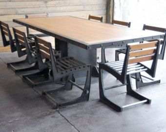 Vintage French Industrial Conference Table / By VintageIndustrial