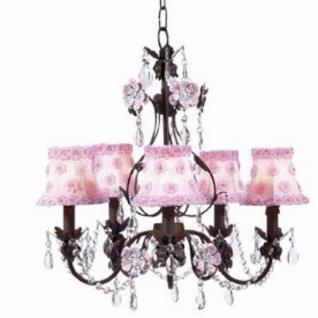 I'm going to attempt to make the nursery chandelier look similar to this.