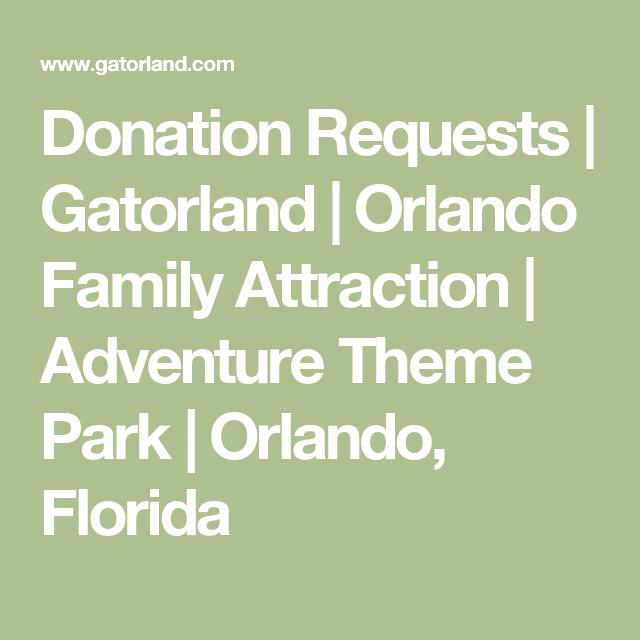 Donation Requests | Gatorland | Orlando Family Attraction