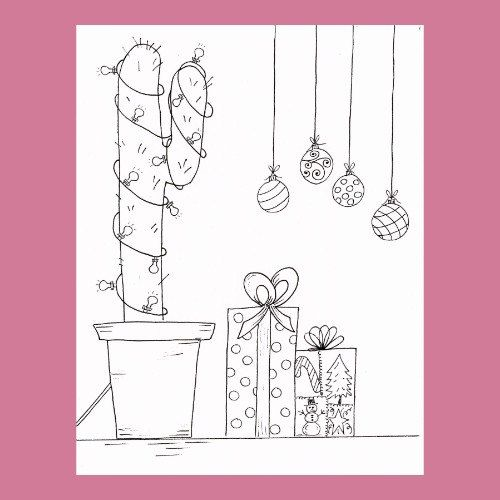 Free Colouring Pages Cactus Coloring Page On Model Picture ... | 500x500