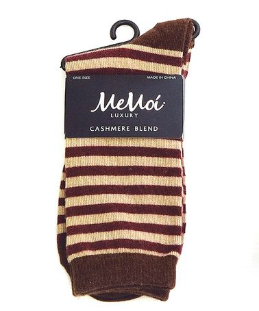 Take a look at this Fig Thin Stripe Crew Socks - Set of Three by MeMoi on #zulily today!