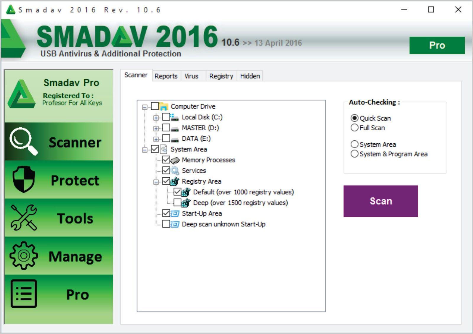 Smadav Pro Registar Latest Version 2017 Antivirus Download Pro