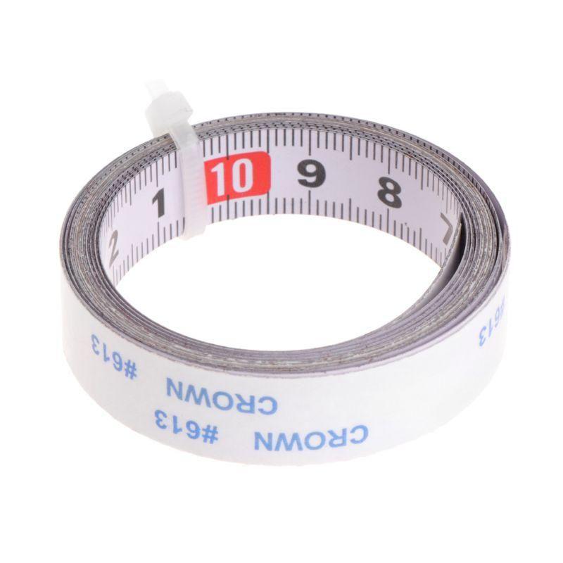 Miter Saw Tape Measure Self Adhesive Metric Steel Ruler Miter Track Stop Us 1 79 Router Saw Tape Measure Tape