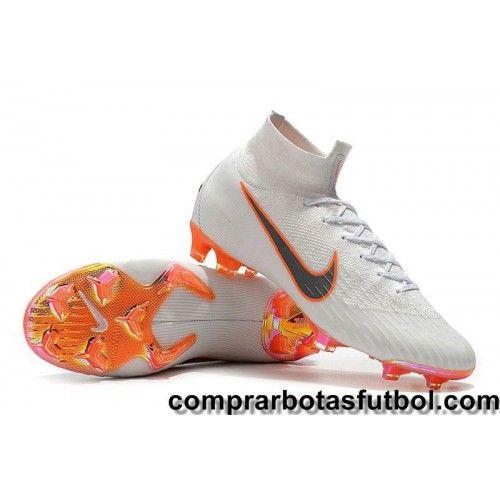 Personalizar Botas De Futbol Nike Niños Mercurial Superfly Vi Elite Fg Blanco Gris Naranja Visit Us Http Www Compr Football Boots Soccer Boots Football Shoes