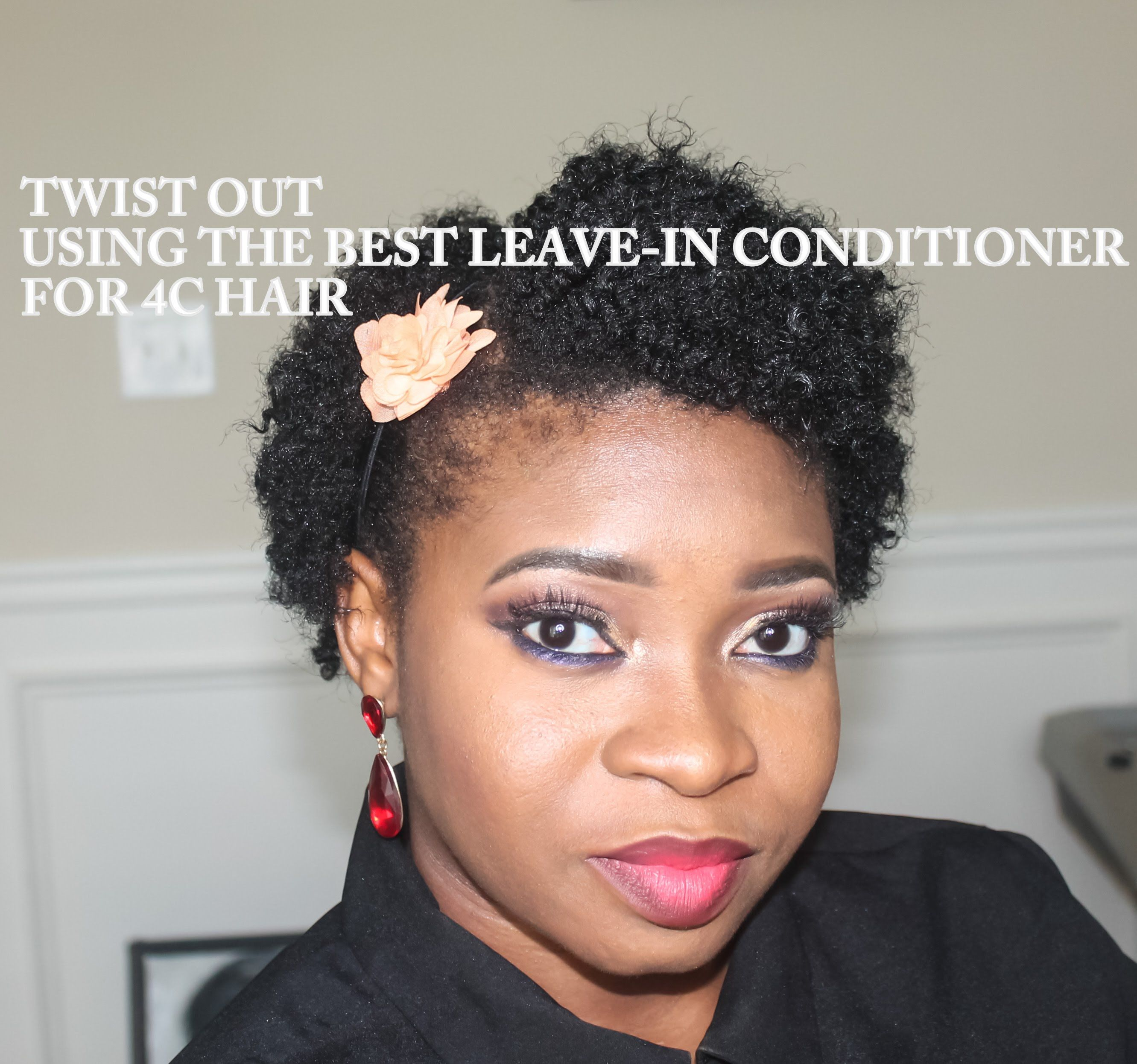 TWIST OUT USING THE BEST LEAVE IN MOISTURIZER FOR 4C HAIR