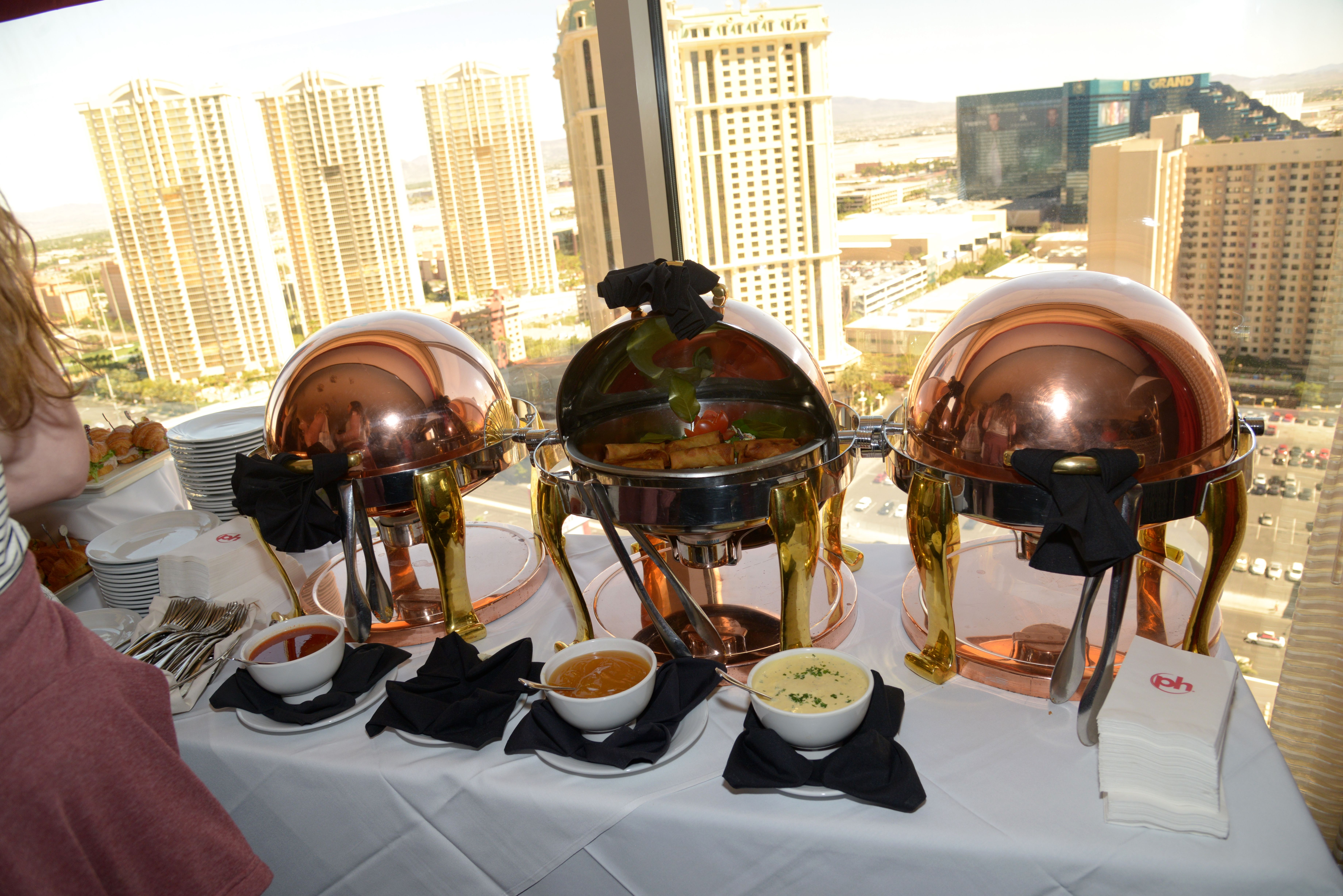 Food Stations In Suite Wedding Reception The Chapel At Planet Hollywood StationsLas Vegas