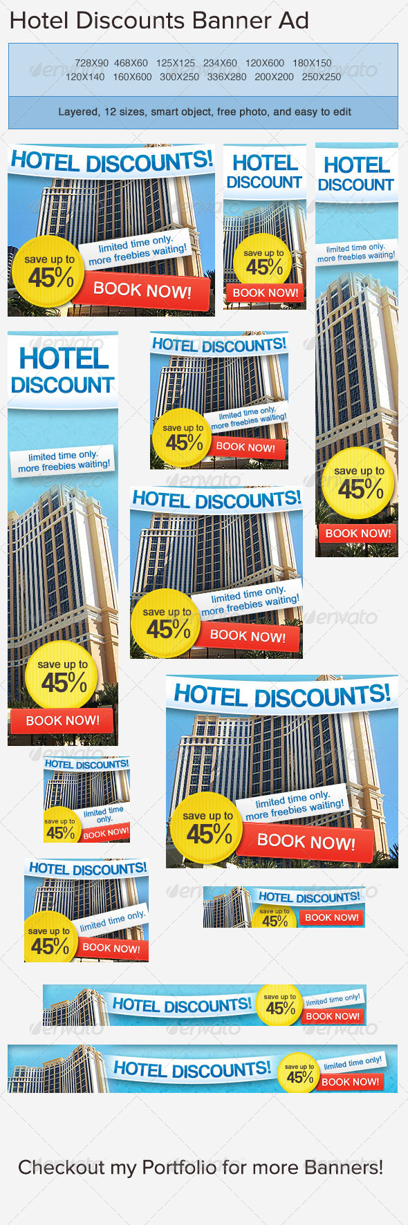 Hotel Accommodation Banners Female Clothing Banners