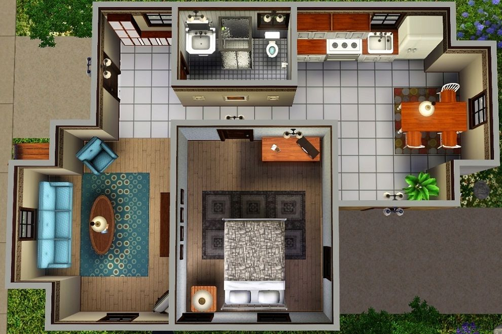 "sims 4"" home layouts 