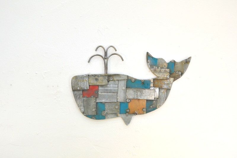 """STUDIO ART - """"Whale of a Tale""""  - Limited Edition - Wine Barrel Ring Wall Art - 100% Recycled by winecountrycraftsman on Etsy https://www.etsy.com/listing/261473963/studio-art-whale-of-a-tale-limited"""
