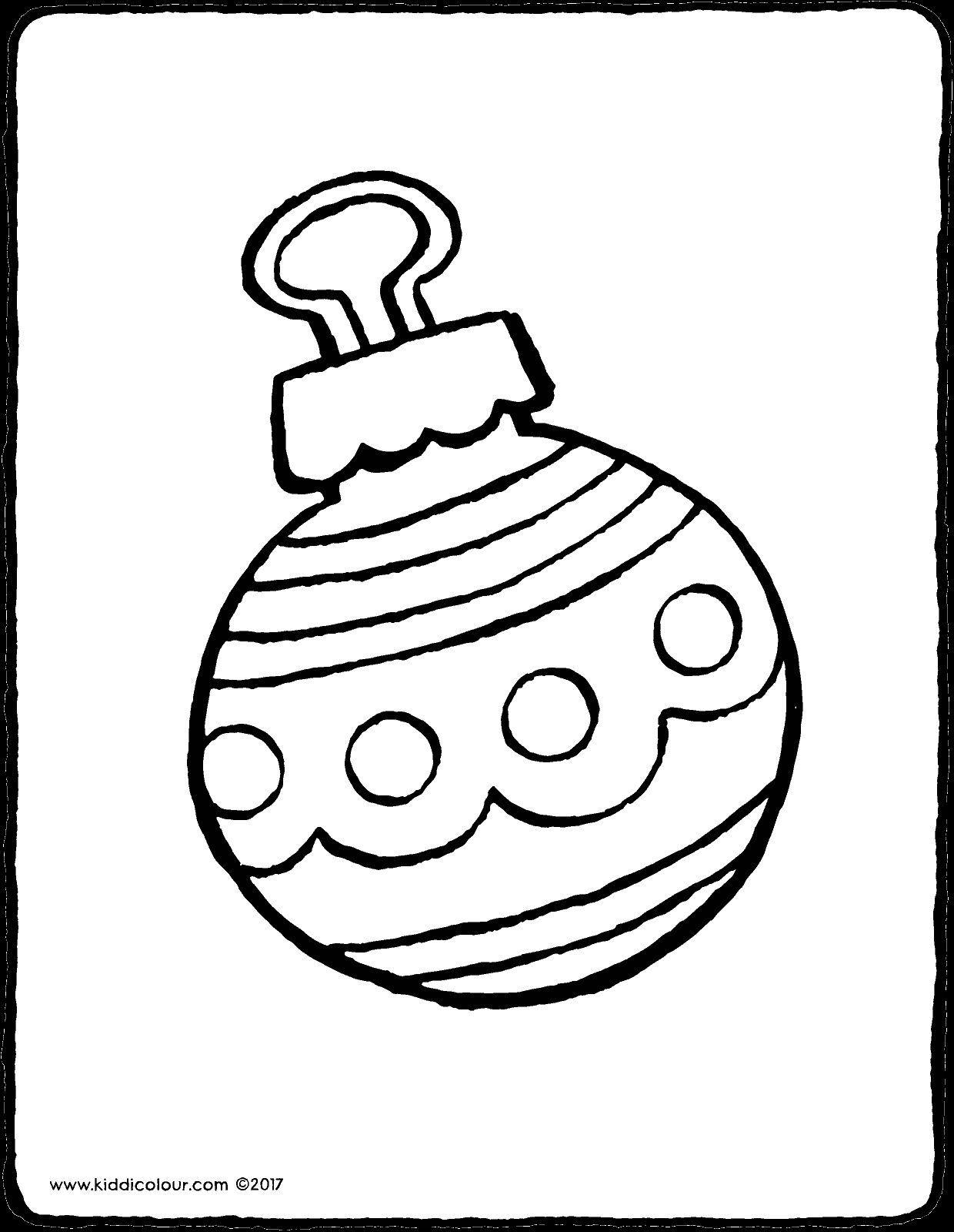 christbaumkugel weihnachtskugeln malvorlage  catherine