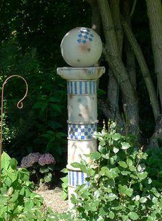 Keramik Kunst Für Den Garten gartensäule von margit hohenberger keramik kunst für den garten