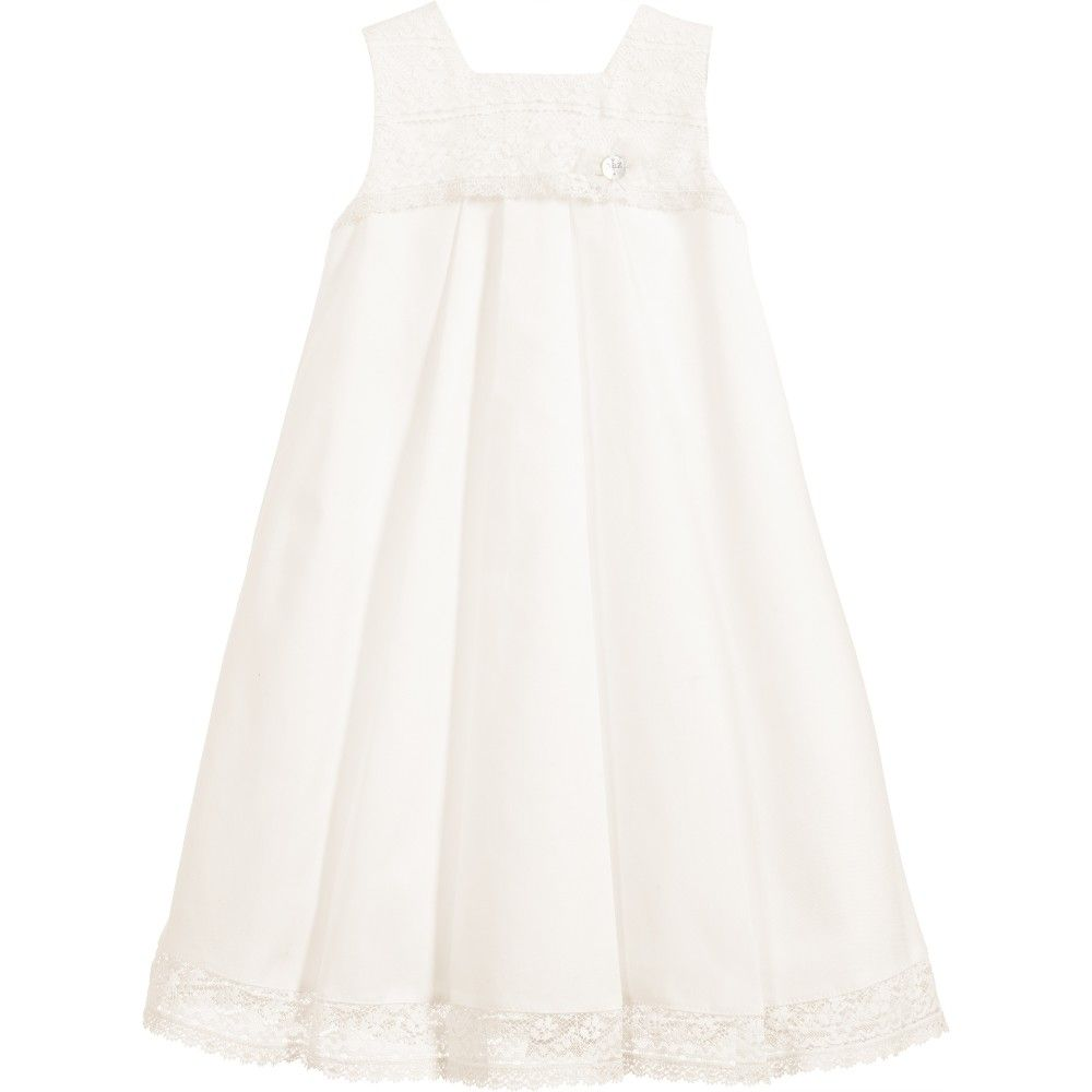 39e33cfa6 Ivory Cotton Baby Gown   Bonnet 2 Piece Set