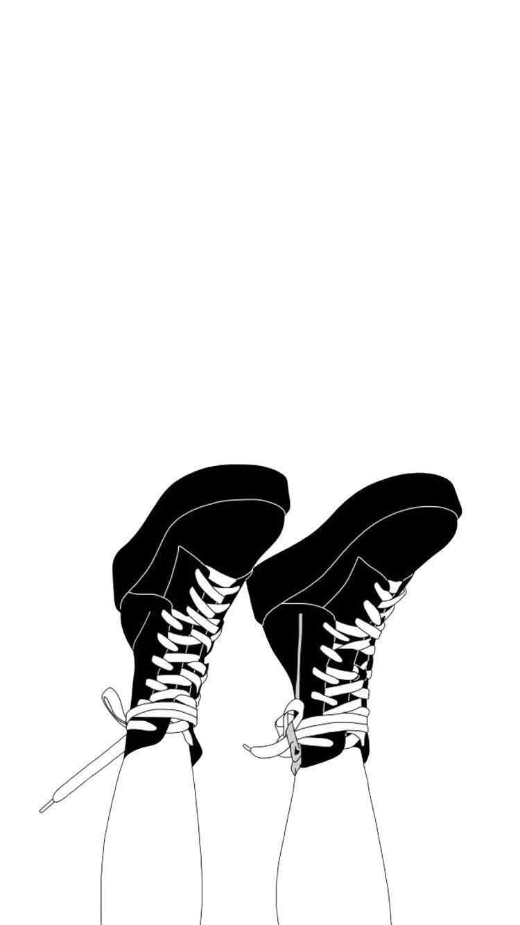 Tumblr Shoes Drawings Drawing Tumblrgirl Png Shoe Drawings