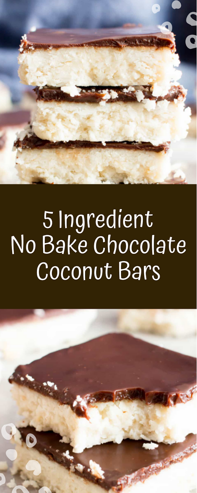 5 Ingredient No Bake Chocolate Coconut Bars Paleo Vegan Gluten Free Dairy Free Refined Sugar Free Ho Cookie Bar Recipes Delicious Cookie Recipes Baking