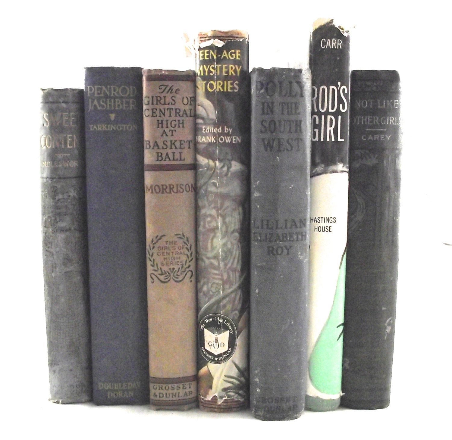 Vintage Book Collection Set of 7 Children's and Teen Hardcover Novels (40.00 USD) by planetalissa