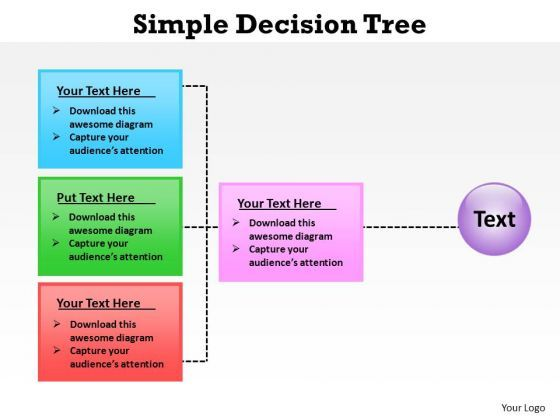 Powerpoint Process Chart Simple Decision Tree Ppt Template Cbt