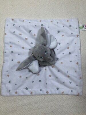Details about Disney Baby Dumbo White Gray Soft Lovey Security Blanket Stars #securityblankets