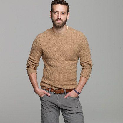 Cashmere cable sweater - J.Crew cashmere - Men's sweaters - J.Crew