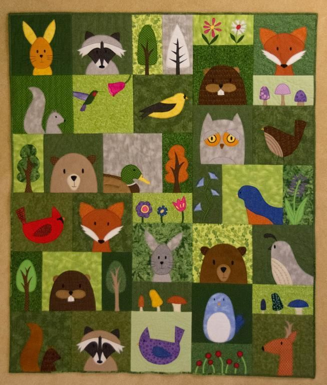 You Have To See Kate S Woodland Quilt By Margheds