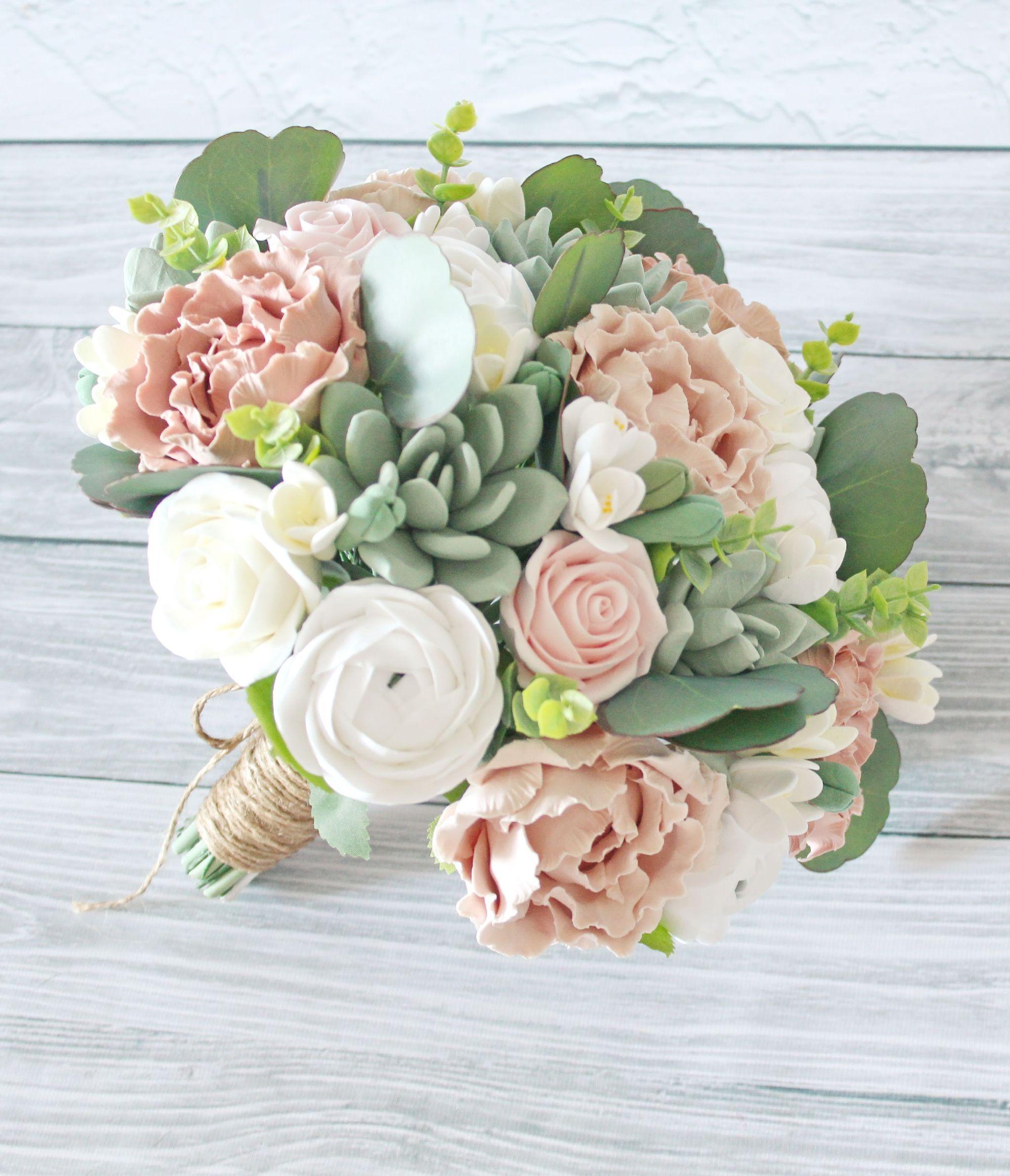 Succulent wedding package Faux bridal bouquet Keepsake Succulent bouquet Bridesmaid package Faux Wedding bouquet Rustic bouquet Clay bouquet