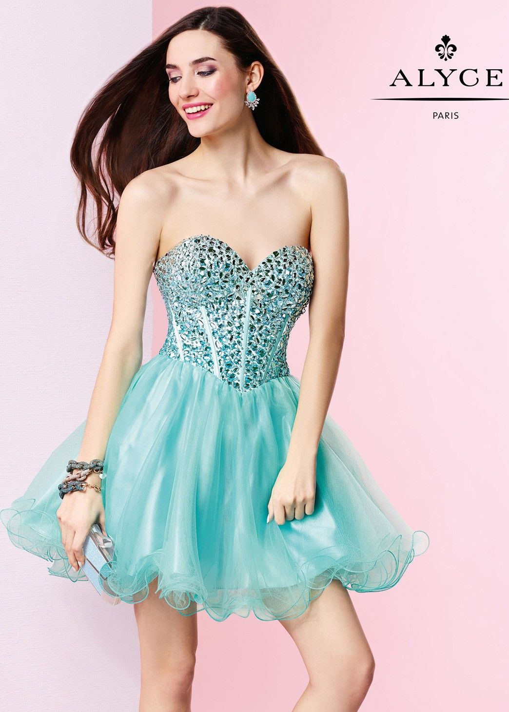 Alyce 3644 Ombre Beaded Corset Party Dress | Corset, Ombre and ...
