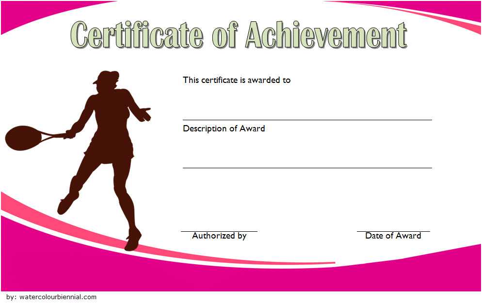 Tennis Gift Certificate Template 4 Templates Example